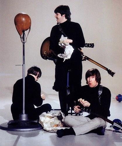 Richard Starkey, Paul McCartney, and John Lennon