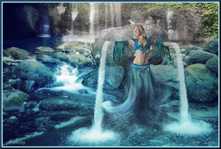 Goddess of Water by Skye-Luna.deviantart.com on @deviantART