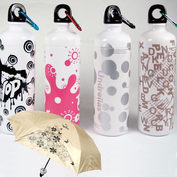 Umbrella in a Water Bottle