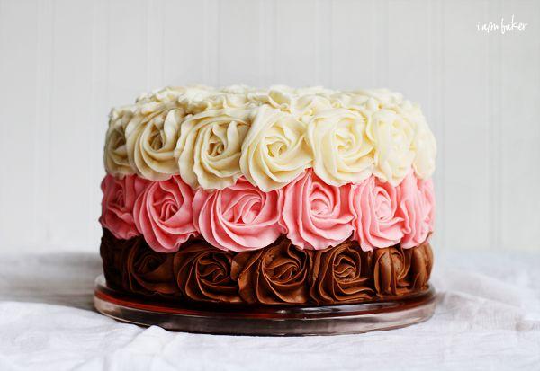 Neapolitan Rose Cake