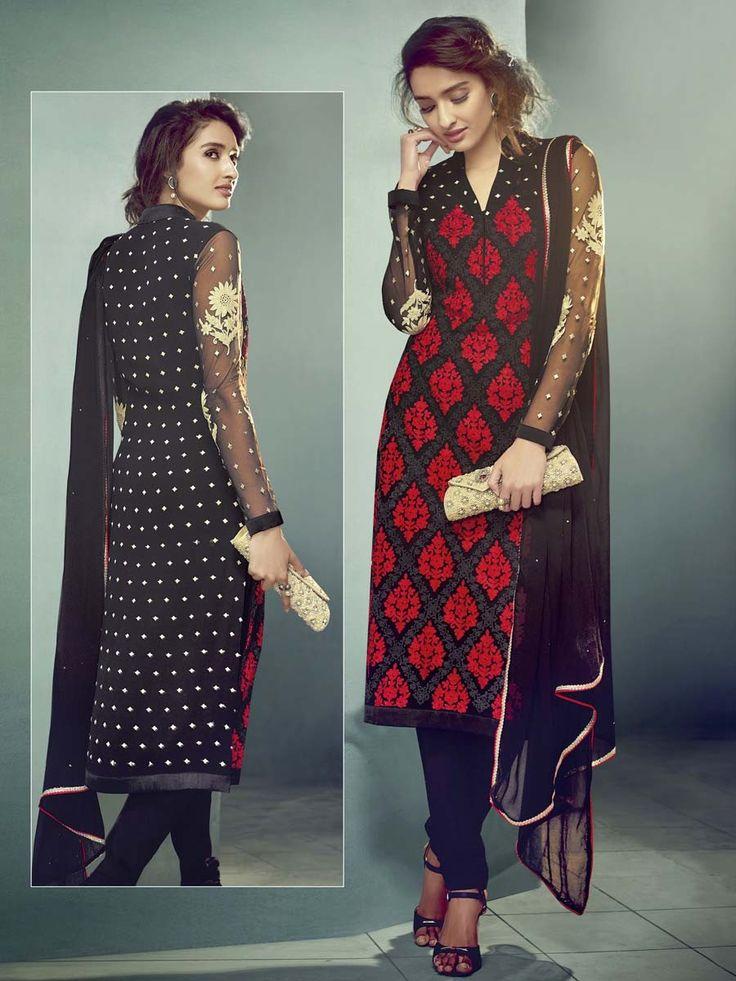 Outfit is a novel way of getting yourself noticed. Item code: SLSVH3436 http://www.bharatplaza.com/new-arrivals/salwar-kameez.html