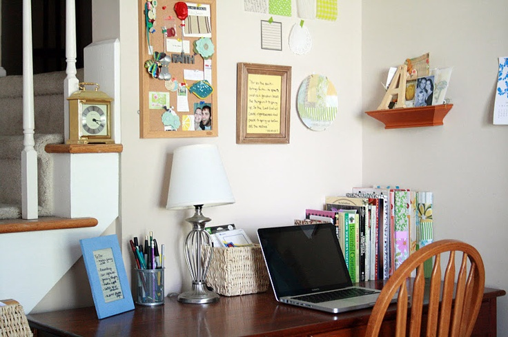 Diy dry erase board desk wall organization picture