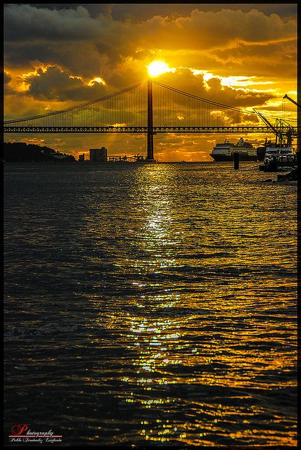 Lisbon Sunset, Portugal -- not unlike a sunset near home, San Francisco, Ca <3