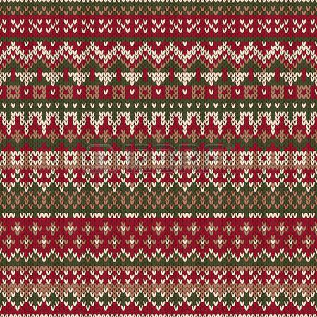 Weihnachtsstrickjacke Entwurf Nahtloses gestricktes Muster in der traditionellen Fair Isle Stil Lizenzfreie Bilder