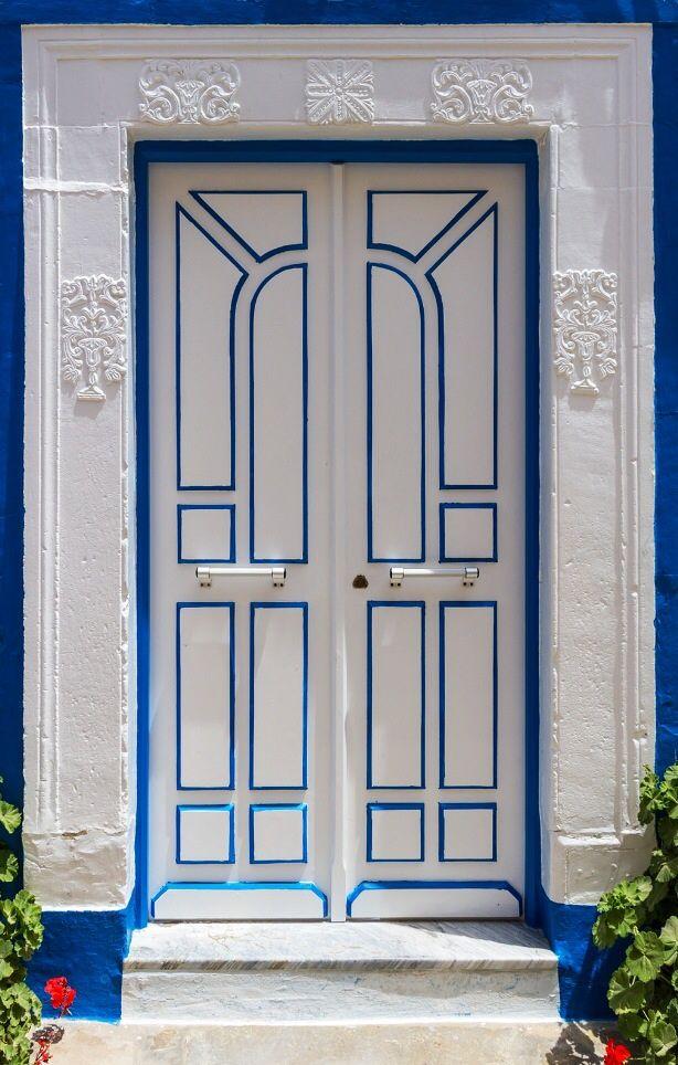 Lovely doors I. Hammamet, Tunisia, white & blue~