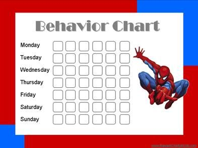 Spiderman behavior chart to help my little man.
