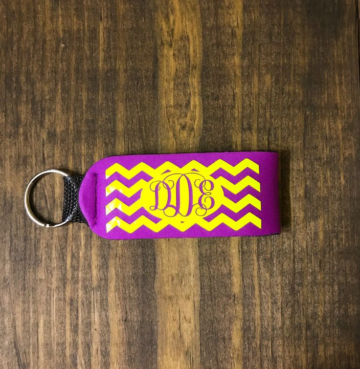Excited to share the latest addition to my #etsy shop: Chevron Monogram Keychain, Chevron Wristlet Keychain, Monogram Key Fob, Neoprene Keychain, Neoprene Wrislet Keychain, Monogrammed Wristlet