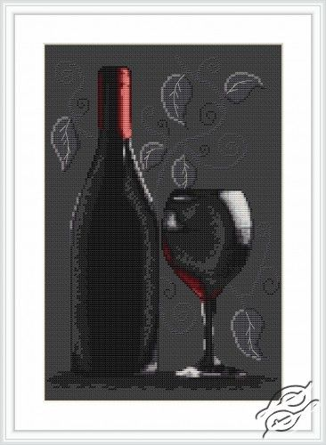Bottle of Wine - Cross Stitch Kits by Luca-S - B2220