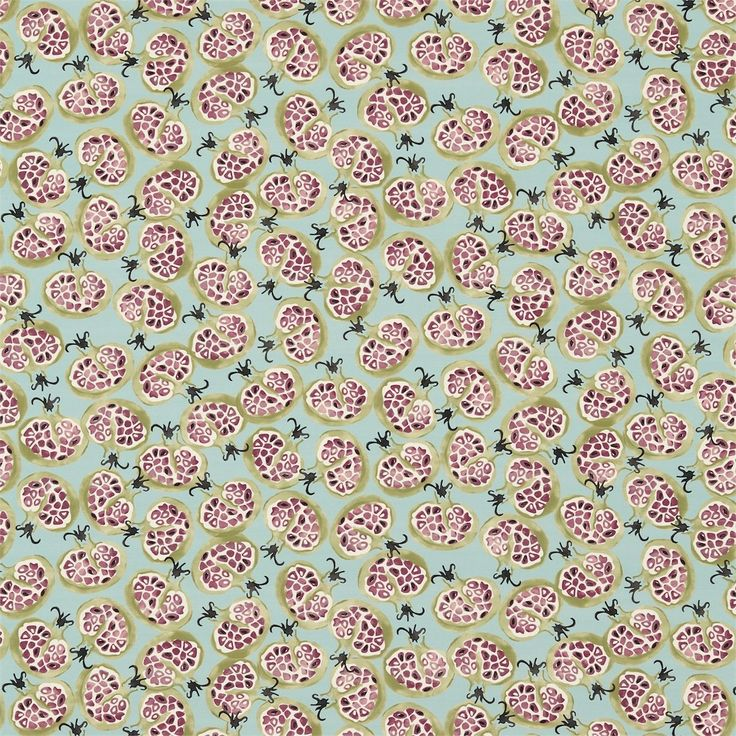 British  Wallpapers - Emma Bridgewater Pomegranate Fabric Duck Egg/Plum DEMB223431, £45.00 (http://www.britishwallpapers.co.uk/emma-bridgewater-pomegranate-fabric-duck-egg-plum-demb223431/)
