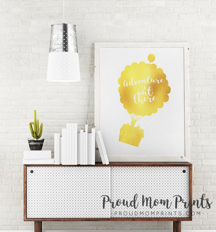 Balloon House Print, Printable, Adventure Out There, Up Pixar, Disney Up Quote