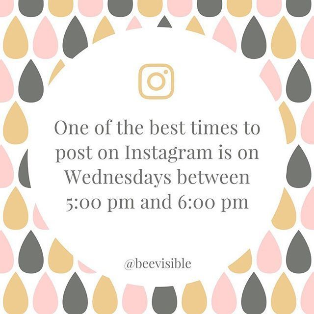 One of the best times to post on Instagram is on Wednesdays between 5:00 pm and 6:00 pm