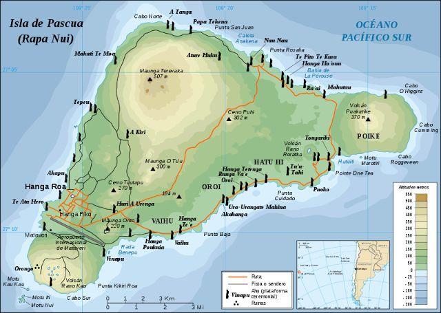 GEOGRAFÍA DE LA ISLA DE PASCUA - RAPA NUI (CHILE) - CHILE POST™
