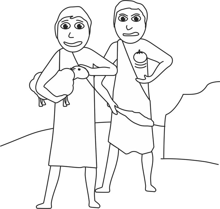 cain and abel coloring page - Bible Coloring Pages Cain Abel