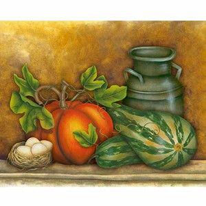 Placa-Decorativa-Jarro-com-Morangas-24x19cm-DHPM-156---Litoarte