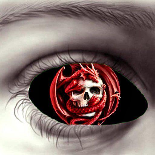 Dragon Skull Eyes-Black *Hidden~Surface*