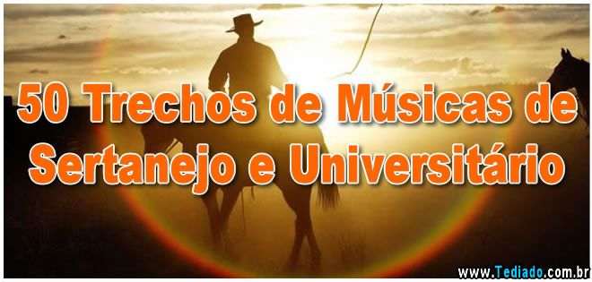 50 Trechos de Músicas de Sertanejo e Universitário