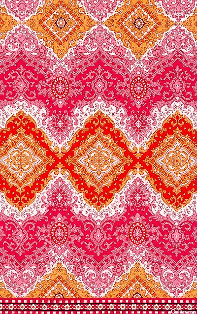 Palm Court - Arabesque Stripe - Quilt Fabrics from www.eQuilter.com
