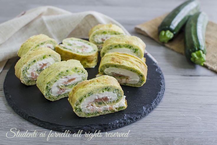 girelle zucchine salmone e philadelphia fredde ricetta secondo facile veloce estivo