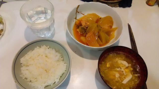 神田森莉 ハムブログ: 大根と鶏肉の適当な煮物とカニと卵のスープである。#朝食 #夕食 #昼食 #ランチ #グルメ #ディナー #食事 #料理 #食料 #食べ物 #ご飯 #うどん #ラーメン #ハンバーグ #ソーメン #スパゲティ #Breakfast #dinner #lunch #gourmet #meal #Dish #food #rice #cook #cooking #udon #ramen #hamburger #steak #somen #spaghetti