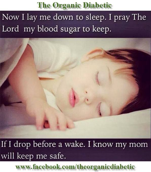 "This really touched my heart. Ever since my Grandson was diagnosed with Type 1 Diabetes, my Daughter hasn't had a full night of uninterrupted sleep (not one single night where she could sleep through the entire night without getting up to check on my Grandson.) ""God, please bless her and all the other Moms who take such good care of their babies; and help researchers find a cure. Amen."""