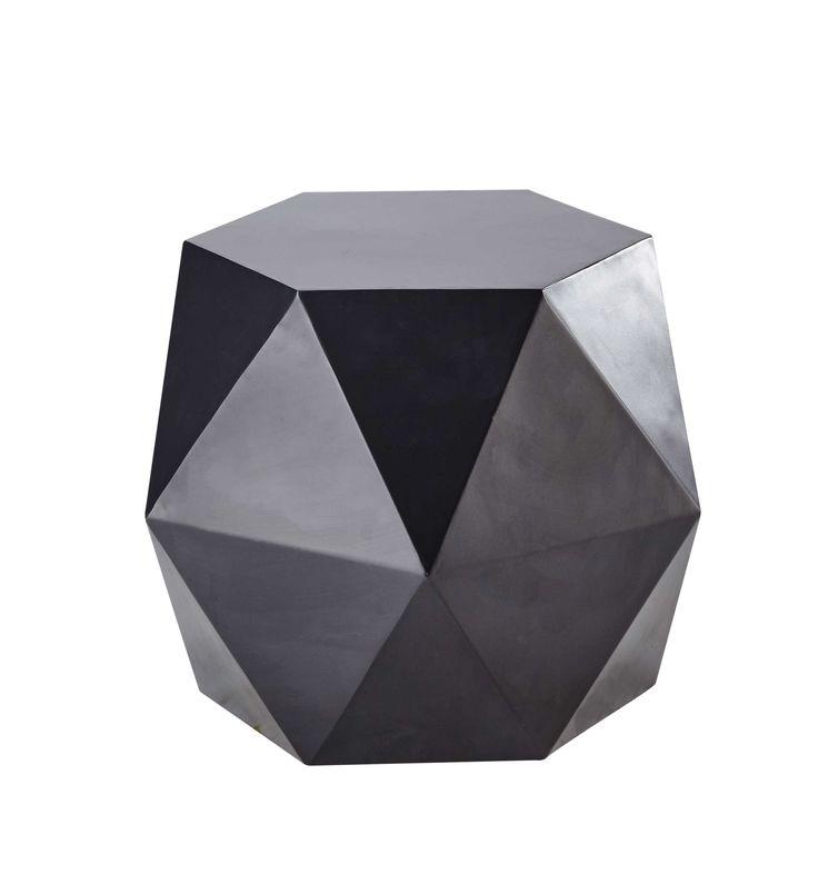 Bout de canapé en métal noir L 58 cm Hexago