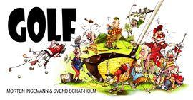 """'Golf' er bogen til enhver golfspiller. Den er fyldt med sjove historier og anekdoter oplevet og fortalt af kendte danskere. Bogen indeholder også nogle af Morten Ingemanns herlige  en illustreret gennemgang af de forskellige typer spillere, du kan møde på golfbanen, og portrætter af verdens største golfkoryfæer fra Harry Verdon, der allerede tilbage i 1800-tallet opfandt """"det overlappende greb"""", til Arnold Palmer, der i 1950'erne blev kendt som golfens gentleman."""