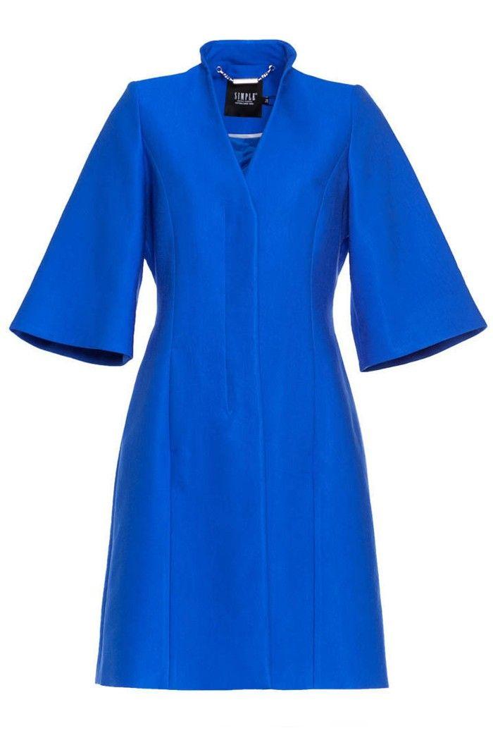 #Simple #coat #blue #answear.com