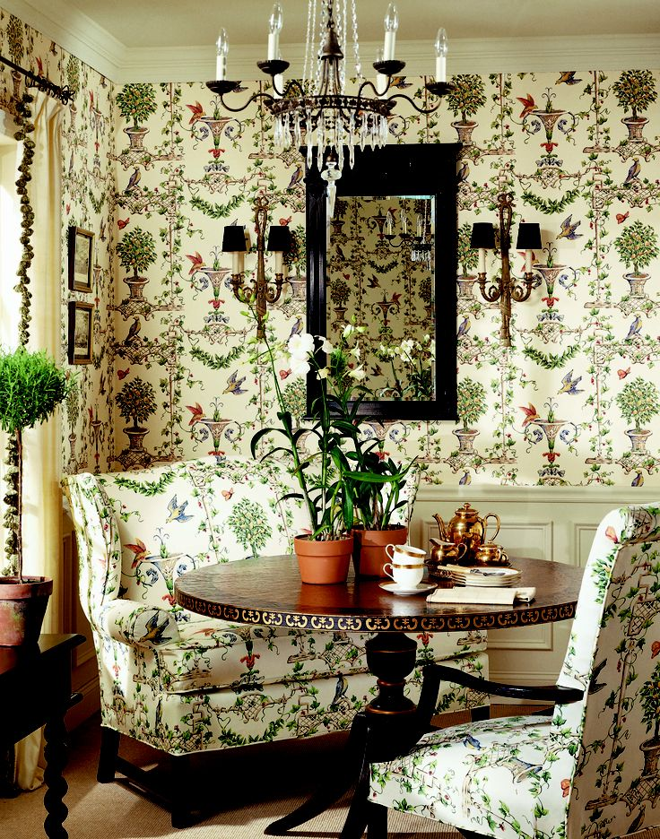 Marion wallpaper and fabric from canterbury thibaut