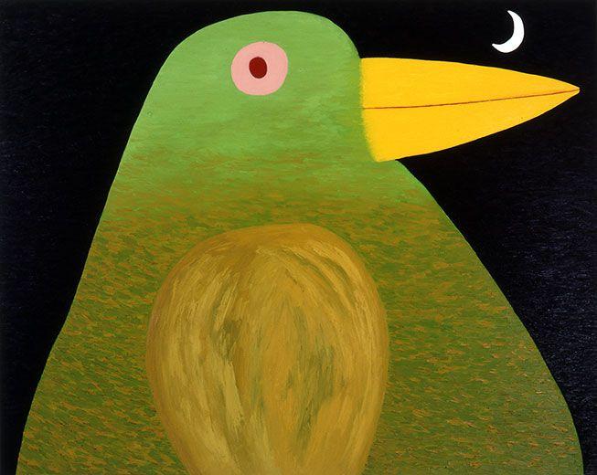 Dean Bowen, Bird Contemplating the Moon