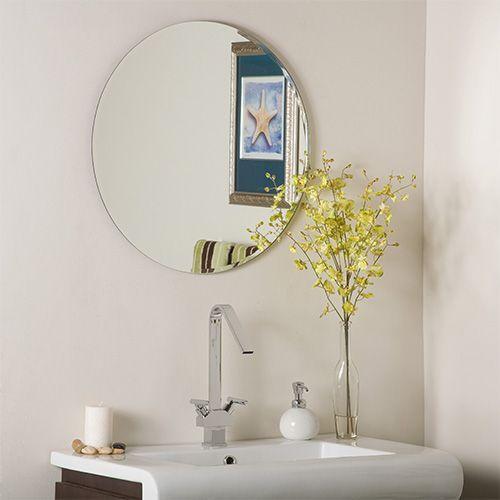 decor wonderland modern frameless round beveled mirror