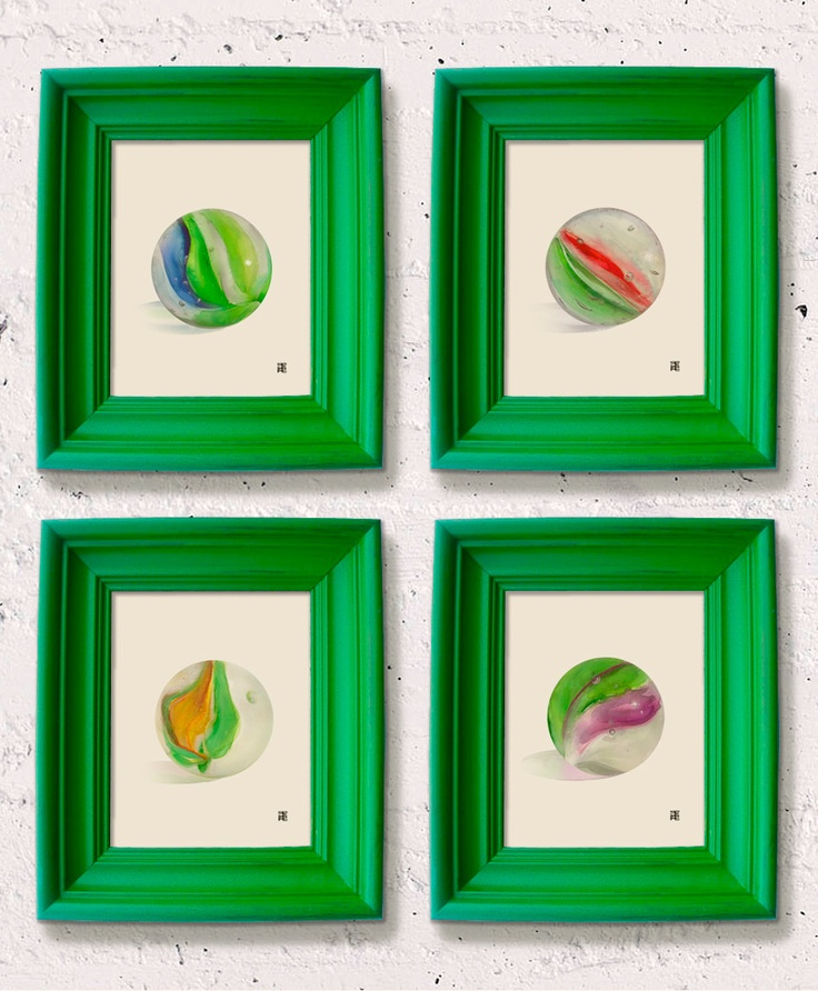 Paint frames green for food signs or pictures for decoration. (Teenage Mutant Ninja Turtles artwork via Etsy.)