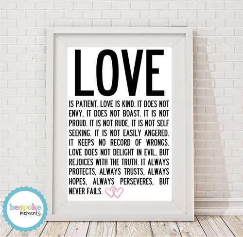 Love Is.. Print by Bespoke Moments. Worldwide Shipping Available.