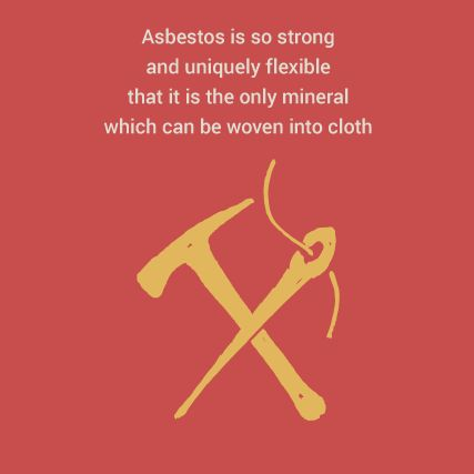Asbestos is so strong and uniquely flexible that it is the only mineral which can be woven into cloth. In a 1940 Life Magazine article they actually called it 'the magic mineral' #hearingtheirvoices