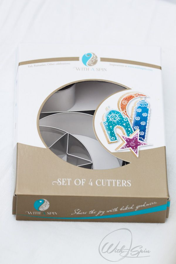 Gorgeous packaging for iconic Islamic shape cookie cutters. Would love this as a gift for Ramadan, Eid, House warming party or just because :)