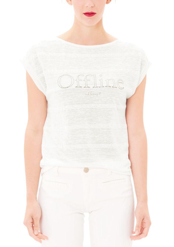 s.Oliver dámské tričko 38 smetanová   MALL.CZ