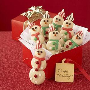 Snowman Christmas Cookies recipe