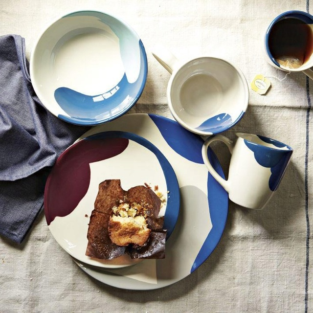 Blue and white-always elegant... From West Elm