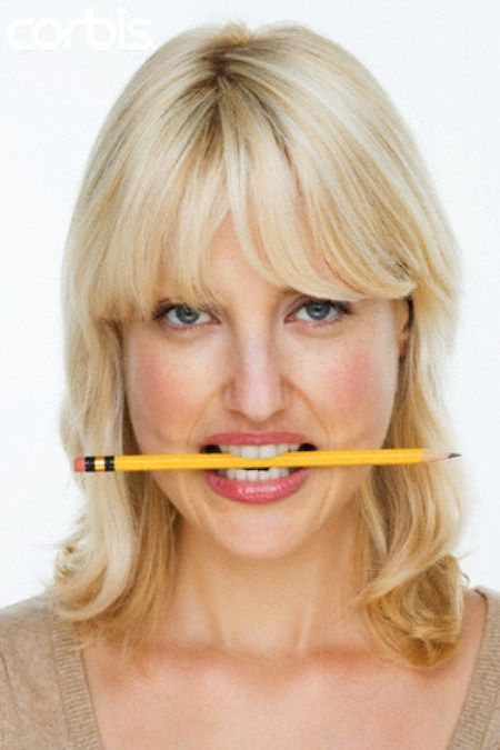 I haven't tried this as yet, but will let you know how it goes...          Tension headaches can often arise from unconsciously clenching your jaw. Gently holding a pencil between your teeth forces your jaw muscles to relax, easing your headache.