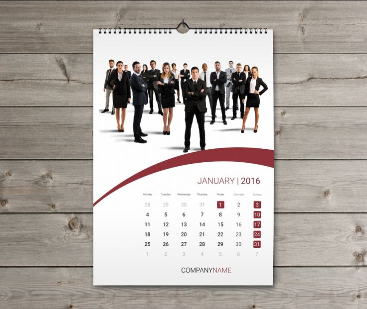 Corporate Calendar Design 2016 : Wall calendar design template kw w