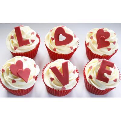Regala estos deliciosos love-cupacakes
