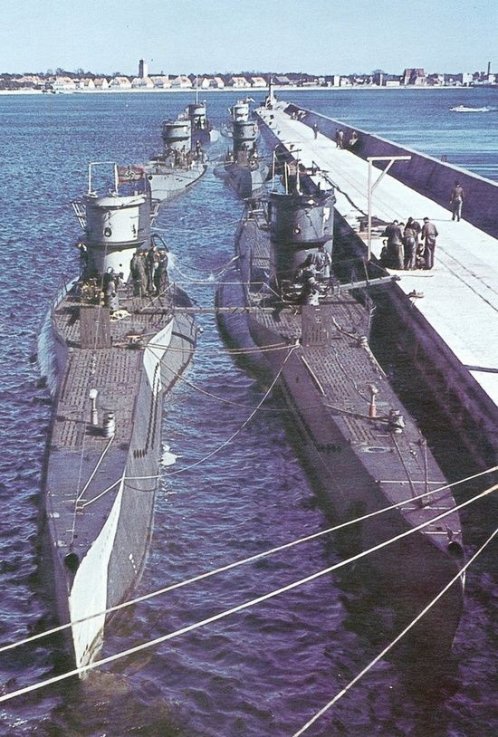 U-Boats at dock WWII