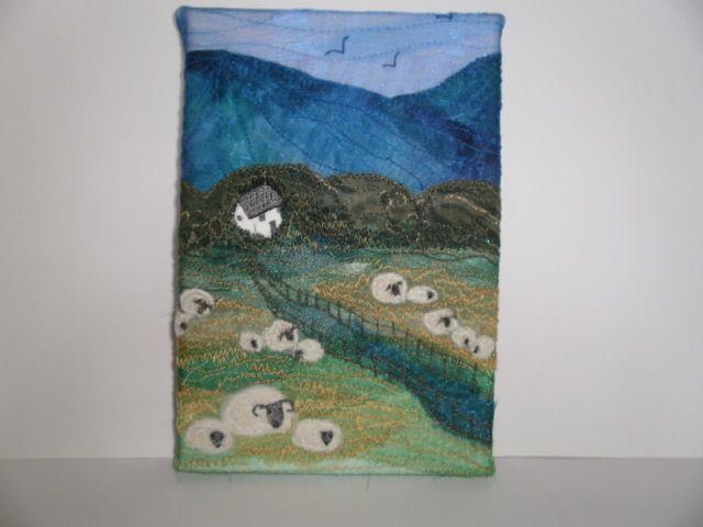 Buttercup Meadow Textile Art £19.50