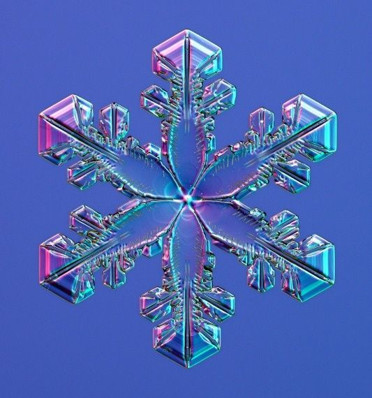 real snowflake patterns | Real Snowflake under an electron microscope. ... | color, pattern ...