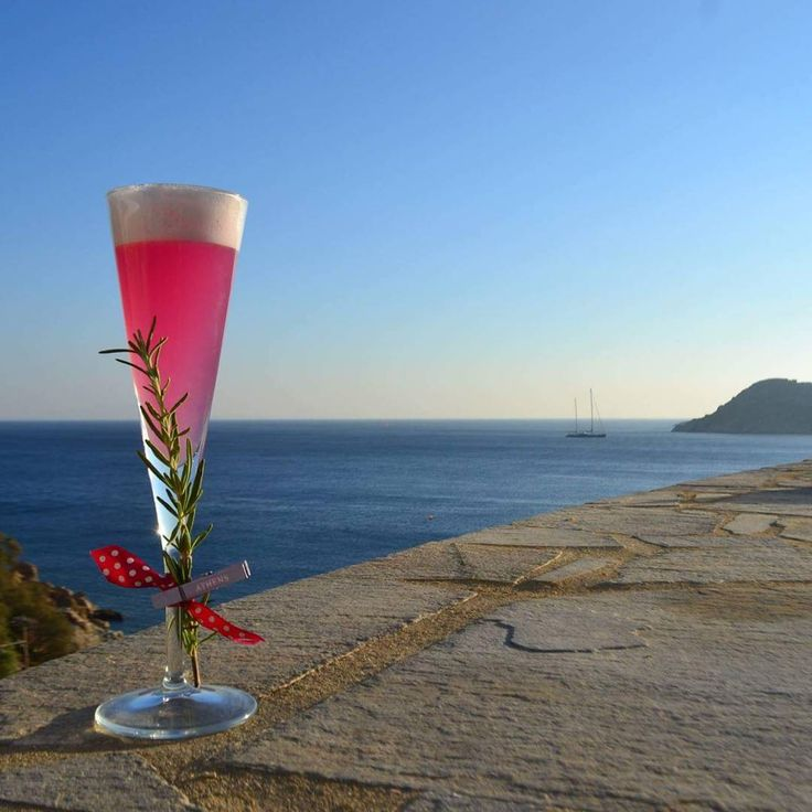 Rosemary flip cocktail combined with a breathtaking view!