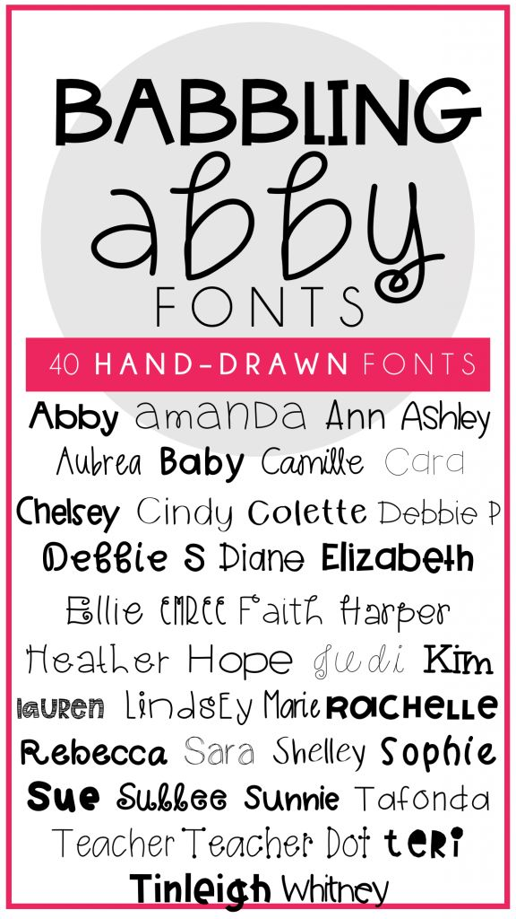 40 hand drawn fonts for teachers and teacher resources. Personal and commercial use approved. No credit required.