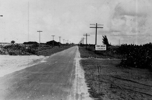 state road a1a along the beach in pompano  ca  1930s  pinned from pompano