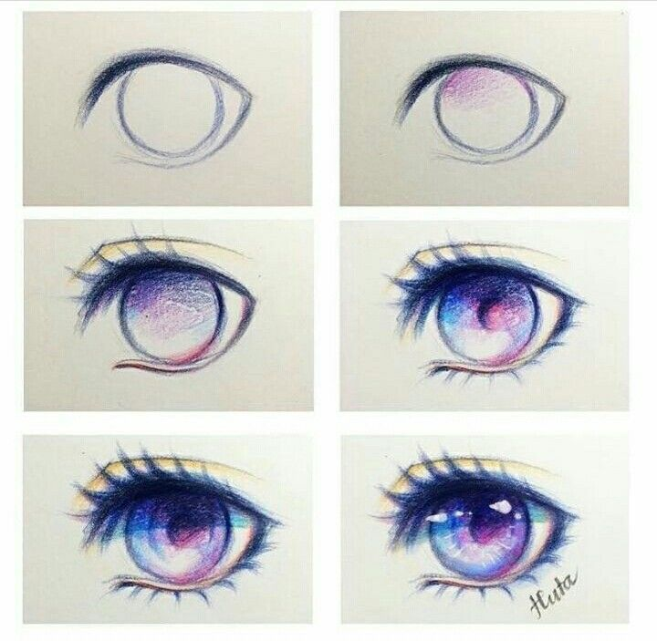 Ojo Anime Morado Dibujos De Ojos Ojo Anime Dibujo Como Dibujar Ojos