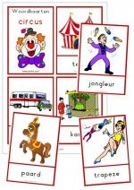 23 Woordkaarten Circus - klein