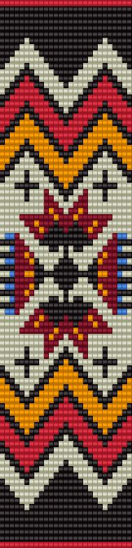 Native inspired loom pattern - BeadscapesbyEstra