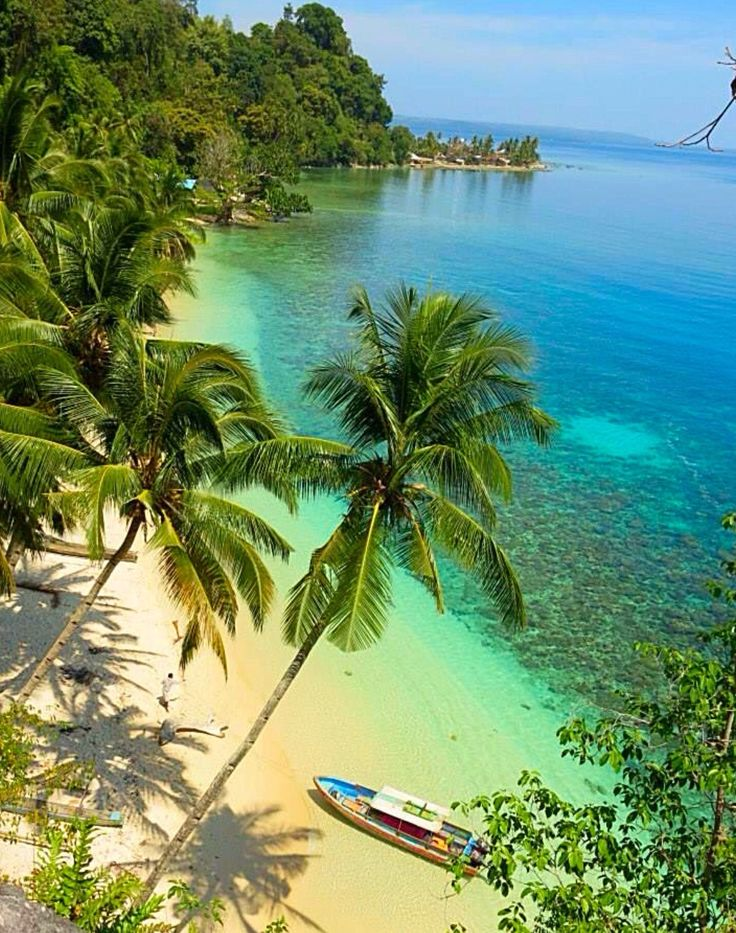 One of the Beautiful Beaches in Maluku Island. Maluku Islands is a province of Indonesia.